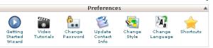 preferences cPanel